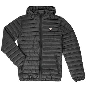 Ruhák Gyerek Steppelt kabátok Guess HILARY Fekete