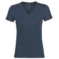 Ruhák Női Rövid ujjú pólók Tommy Hilfiger HERITAGE V-NECK TEE Tengerész