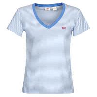 Ruhák Női Rövid ujjú pólók Levi's PERFECT VNECK Fehér / Kék