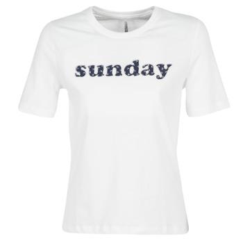 Ruhák Női Rövid ujjú pólók Only ONLSANNE Fehér