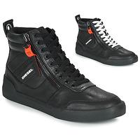 Cipők Férfi Magas szárú edzőcipők Diesel S-DVELOWS Fekete