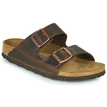 Cipők Női Papucsok Birkenstock ARIZONA SFB LEATHER Barna