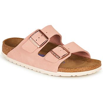 Cipők Női Papucsok Birkenstock ARIZONA SFB LEATHER Rózsaszín
