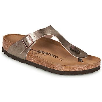 Cipők Női Lábujjközös papucsok Birkenstock GIZEH Bronz