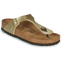 Cipők Női Lábujjközös papucsok Birkenstock GIZEH Arany / Arany