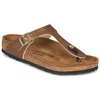 Cipők Női Lábujjközös papucsok Birkenstock GIZEH Arany / Leopárd