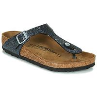 Cipők Női Lábujjközös papucsok Birkenstock GIZEH Fekete  / Ezüst