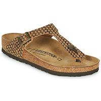 Cipők Női Lábujjközös papucsok Birkenstock GIZEH LEATHER Barna