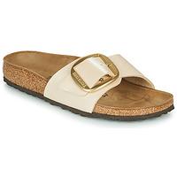 Cipők Női Papucsok Birkenstock MADRID BIG BUCKLE Könnyed / Gyöngy / Fehér