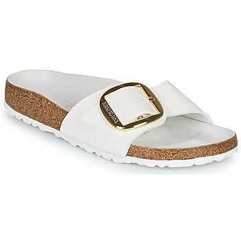 Cipők Női Papucsok Birkenstock MADRID BIG BUCKLE Fehér / Fényes
