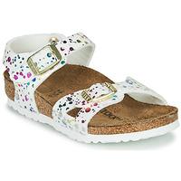 Cipők Lány Szandálok / Saruk Birkenstock RIO Fehér / Sokszínű