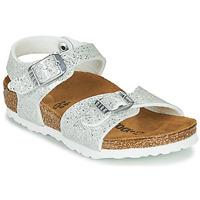 Cipők Lány Szandálok / Saruk Birkenstock RIO PLAIN Fehér