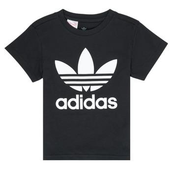 Ruhák Gyerek Rövid ujjú pólók adidas Originals LEILA Fekete