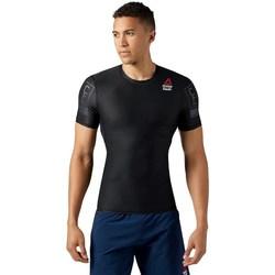 Ruhák Férfi Rövid ujjú pólók Reebok Sport Crossfit RC Compression Fekete