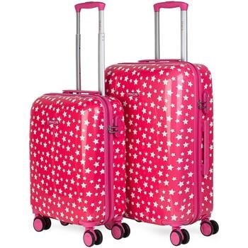Táskák Női Keményfedeles bőröndök Itaca Csillagok Fukszia