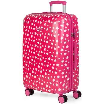 Táskák Lány Keményfedeles bőröndök Itaca STARS 66 liter Fukszia