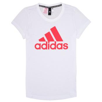 Ruhák Lány Rövid ujjú pólók adidas Performance ELIOTE Fehér