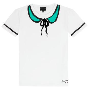 Ruhák Lány Rövid ujjú pólók Emporio Armani Anthonin Fehér