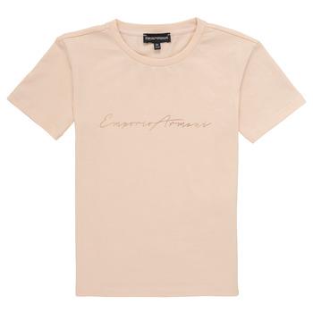 Ruhák Lány Rövid ujjú pólók Emporio Armani Armel Rózsaszín