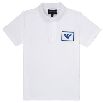 Ruhák Fiú Rövid ujjú galléros pólók Emporio Armani Aime Fehér