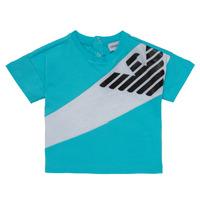 Ruhák Fiú Rövid ujjú pólók Emporio Armani Alois Kék / Fehér