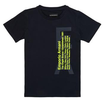 Ruhák Fiú Rövid ujjú pólók Emporio Armani Andoni Tengerész