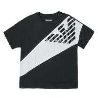 Ruhák Fiú Rövid ujjú pólók Emporio Armani Blaise Fekete  / Fehér