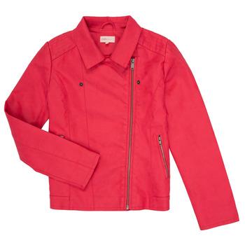 Ruhák Lány Bőrkabátok / műbőr kabátok Only KONCARLA Rózsaszín