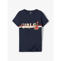 Ruhák Lány Rövid ujjú pólók Name it NKFBARBRA Tengerész