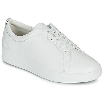 Cipők Női Rövid szárú edzőcipők FitFlop RALLY SNEAKERS Fehér