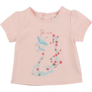 Ruhák Lány Rövid ujjú pólók Carrément Beau JUSTINE Rózsaszín