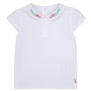Ruhák Lány Rövid ujjú pólók Carrément Beau JULIEN Fehér