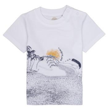Ruhák Fiú Rövid ujjú pólók Timberland ANTONIN Fehér