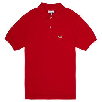 Ruhák Fiú Rövid ujjú galléros pólók Lacoste ANAICK Piros
