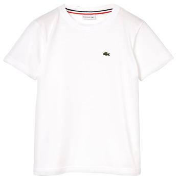 Ruhák Fiú Rövid ujjú pólók Lacoste ALIZE Fehér