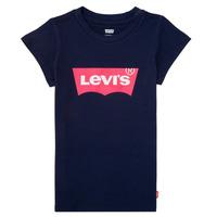 Ruhák Lány Rövid ujjú pólók Levi's BATWING TEE Tengerész
