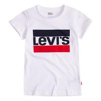 Ruhák Lány Rövid ujjú pólók Levi's SPORTSWEAR LOGO TEE Fehér