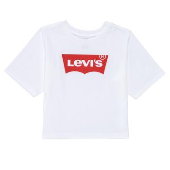 Ruhák Lány Rövid ujjú pólók Levi's LIGHT BRIGHT HIGH RISE TOP Fehér