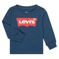 Ruhák Fiú Hosszú ujjú pólók Levi's BATWING TEE LS Tengerész