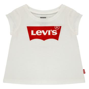 Ruhák Lány Rövid ujjú pólók Levi's BATWING TEE Fehér
