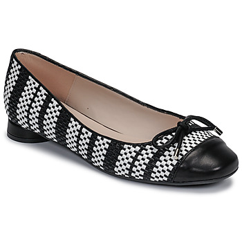 Cipők Női Balerina cipők  Fericelli MARYA Fekete  / Et / Fehér