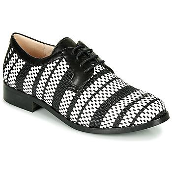 Cipők Női Oxford cipők Fericelli MILEYNE Fekete  / Et / Fehér