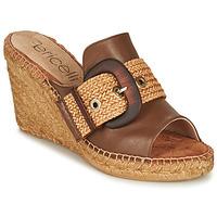 Cipők Női Papucsok Fericelli MELISSA Konyak