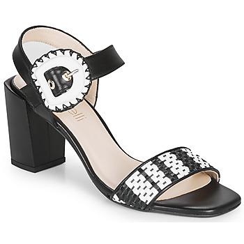 Cipők Női Szandálok / Saruk Fericelli MAIRA Fekete  / Et / Fehér