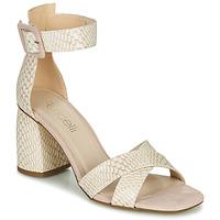 Cipők Női Szandálok / Saruk Fericelli JEZI Fehér / Rózsaszín