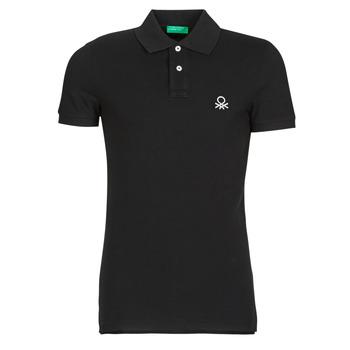 Ruhák Férfi Rövid ujjú galléros pólók Benetton MARNELLI Fekete
