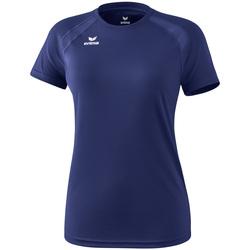 Ruhák Női Rövid ujjú pólók Erima T-shirt femme  Performance bleu
