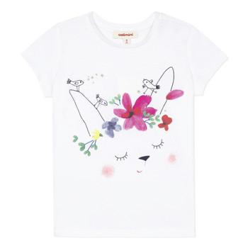 Ruhák Lány Rövid ujjú pólók Catimini MAE Fehér