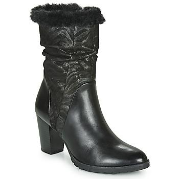 Cipők Női Városi csizmák Caprice LOTIMA Fekete