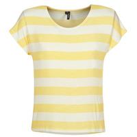 Ruhák Női Rövid ujjú pólók Vero Moda  Citromsárga / Fehér